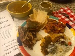 Yum.  Dinner for me, and it was great! I liked the Lamb Vindaloo best.