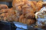 Croissants lined up in the case at Zumbar in  the  Sorrento Valley area of San Diego