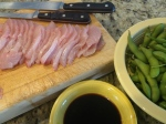Hamachi (Yellowtail) Sashimi, caught that morning- click for a great poke recipe!