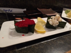 Tobiko and Scallop...