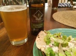 Fish Tacos and Lightning's Elemental Pilsner