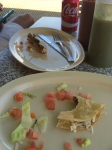 What's left of lunch from El Borrego.