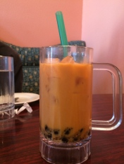 Boba Tea- see the big ol' tapioca globs?