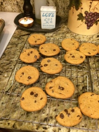 Chocolate Chip Cookies from the neighbor kid's fund raiser