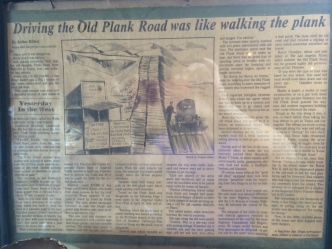 Article about the Old Plank Road...