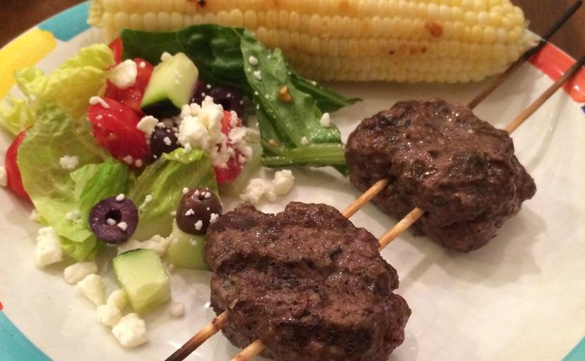 New Menu Monday: Greek Kabobs Replace GrilledBurgers