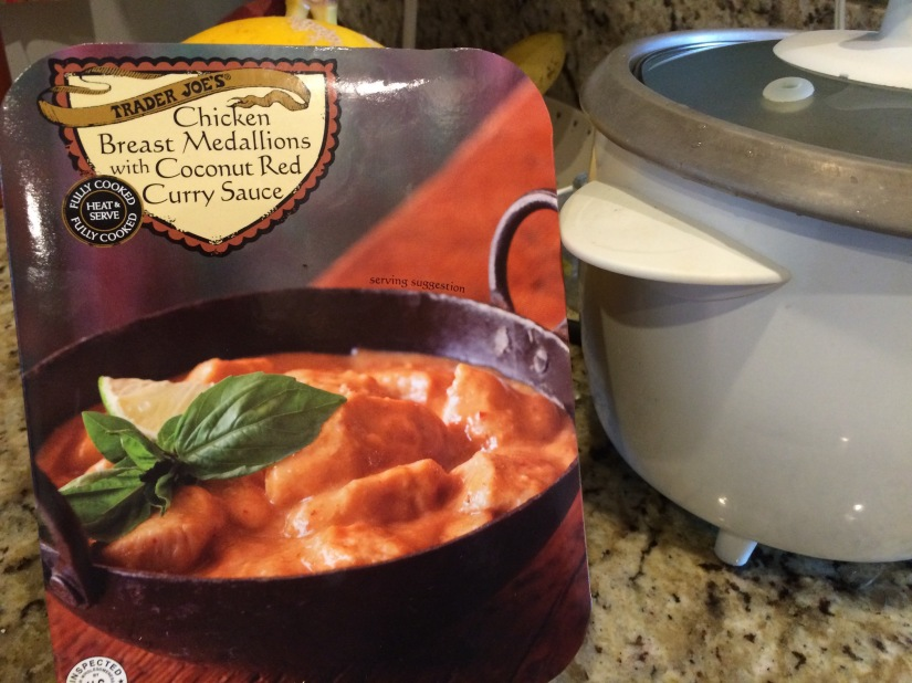 Taste Test and Recipe: Chicken with Red Curry Sauce from Trader Joe's with Homemade Hummus