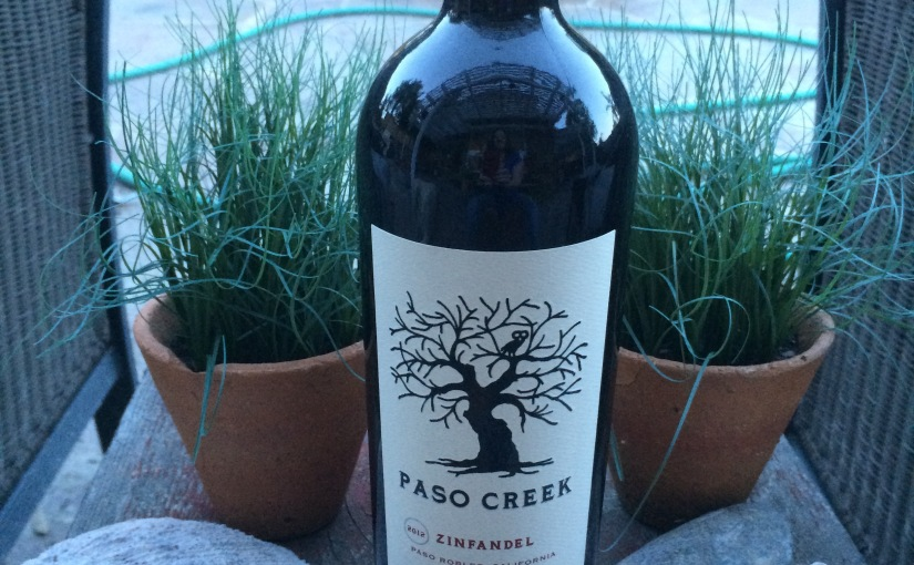 New Wine from the Winnings- Paso Creek Zinfandel 2012