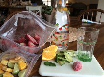 Berries, Citrus and Mint for your water, yum!