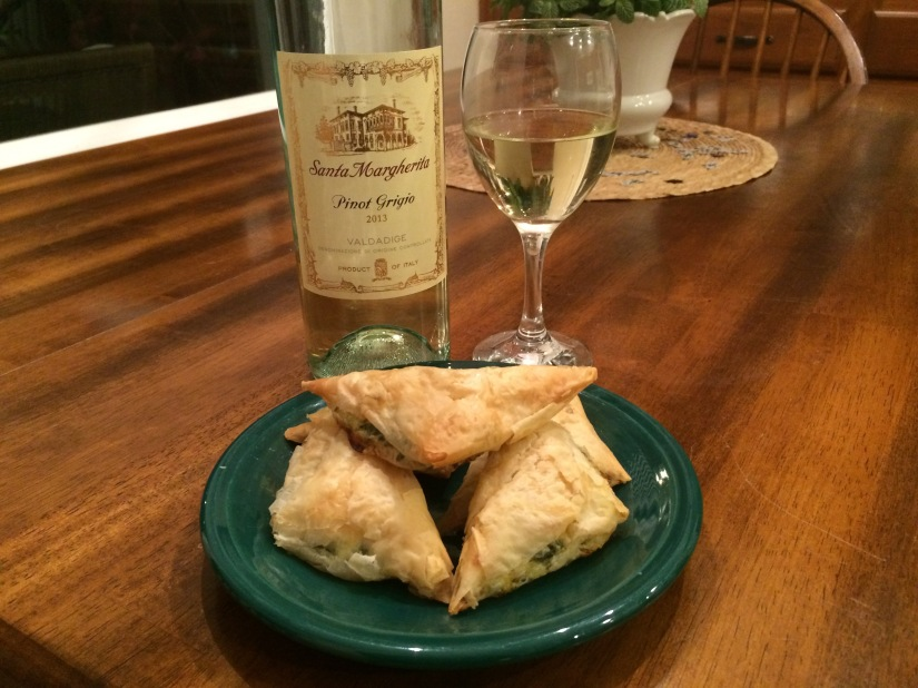 Home Made Spanakopita and a Nice PinotGrigio…