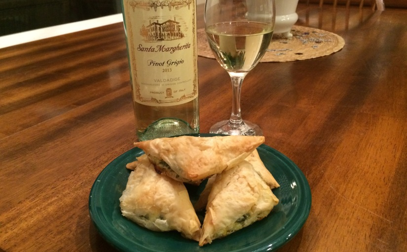 Home Made Spanakopita and a Nice Pinot Grigio…