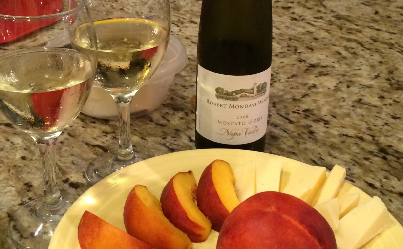 Moscato D'Oro, Peaches (almost) from Heaven, and A Nice Evening…