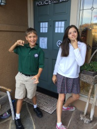 Fall 2014 1st day of school and the leftovers of the Doctor Who party