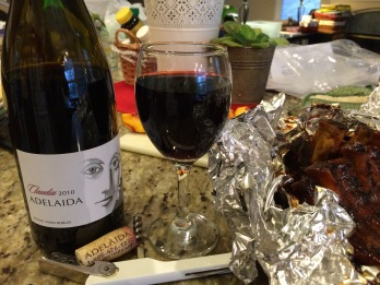 Ribs and a red. Yum!