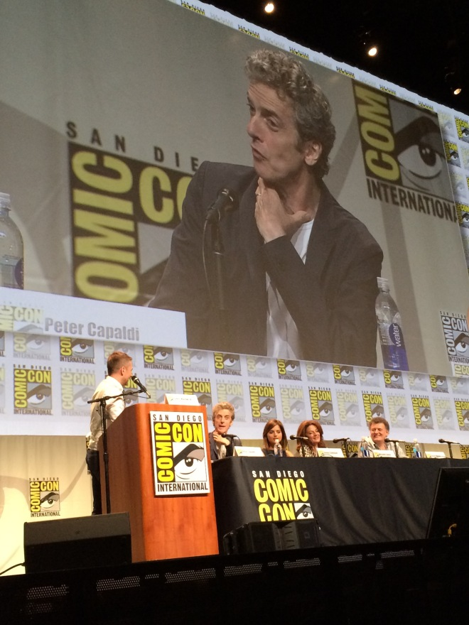 Peter Capaldi, the self professed major Doctor Who geek, answering  an audience question.