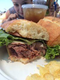 Italian Roast Beef sandwich with sun dried tomatoes. Loved it.