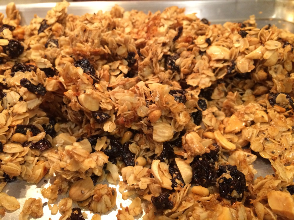 Home Made Cherry Almond Granola with Chia and Pine Nuts ...