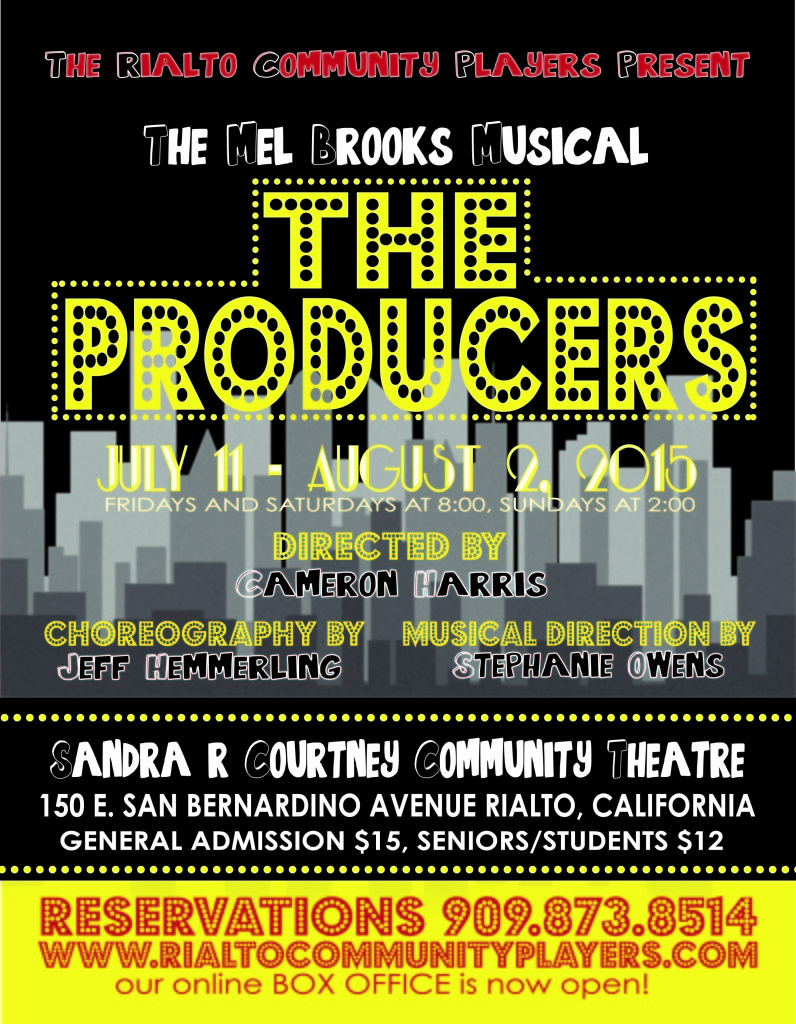 """August Theater Pick: Mel Brooks's """"The Producers"""" by The Rialto CommunityPlayers"""