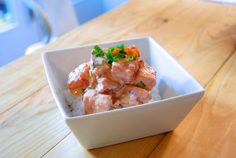 Spicy Ahi Poke with Sriracha -or- What to do with 50 Pounds of FreshTuna?