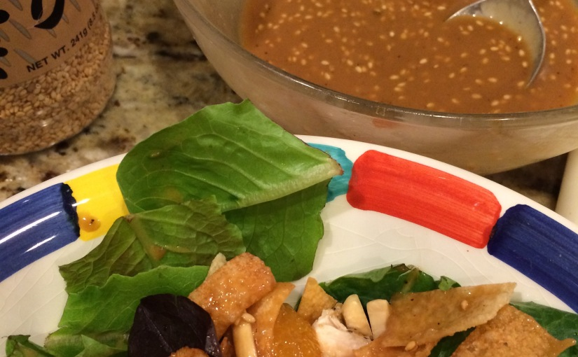 Recipe- Homemade Dressing for The BEST Asian Chicken Salad
