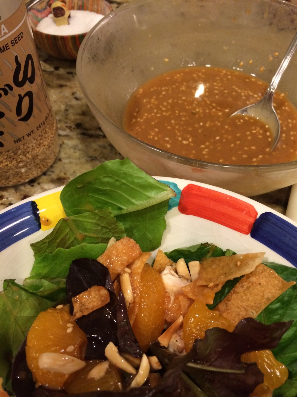 Recipe- Homemade Dressing For The Best Asian Chicken Salad -4404