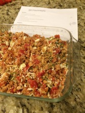 Try to flip the stuffing and cheese... succeed in mixing them instead.