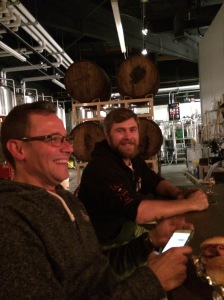 Duck Foot's head brewer Derek Wasak (right) and The Husband
