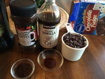 Prep bowls with vanilla and coffee