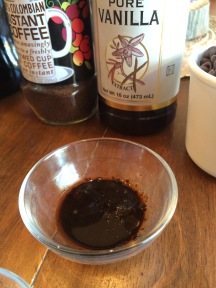 coffee into the vanilla