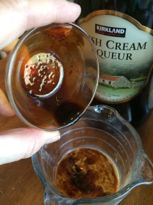coffee and vanilla into the liqueur